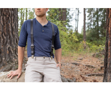 best black suspenders for men