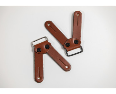 suspender loops in brown