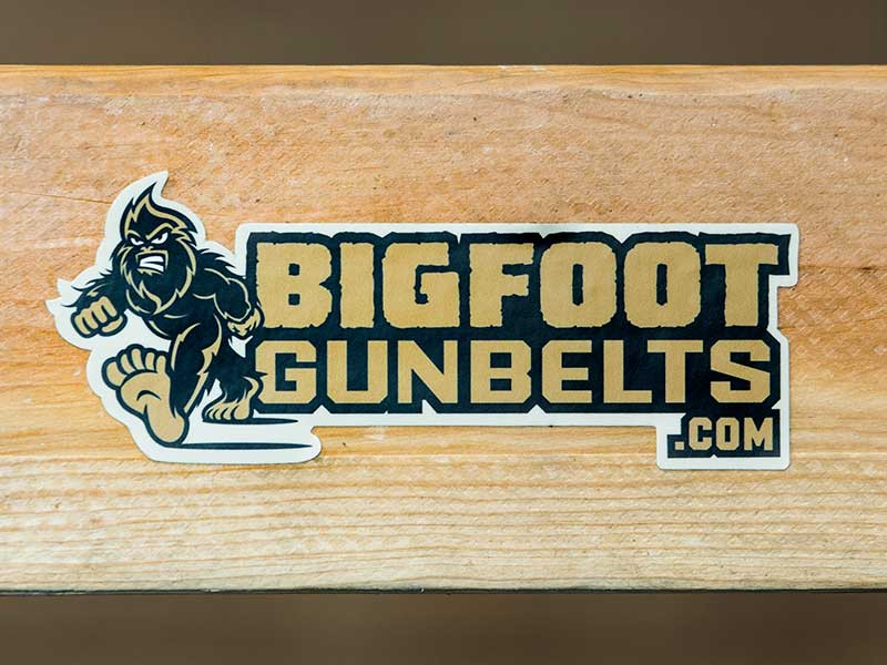 bigfoot gun belts sticker