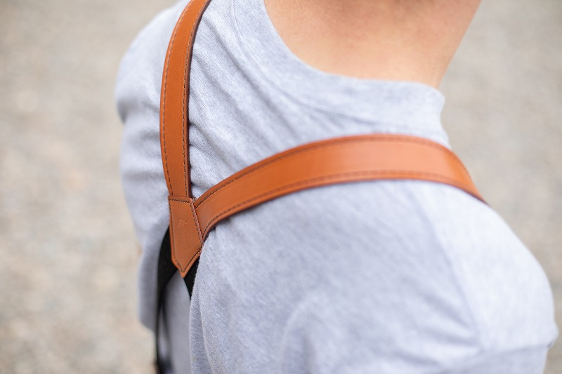 quality tan suspenders