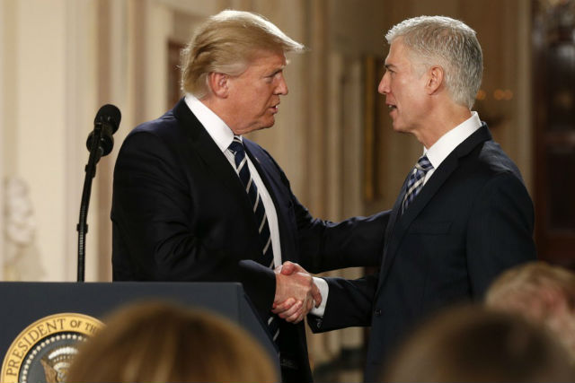 Neil M. Gorsuch, newly appointed Supreme Court Justice