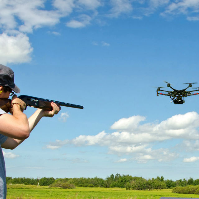 Drones Trap shooting target?