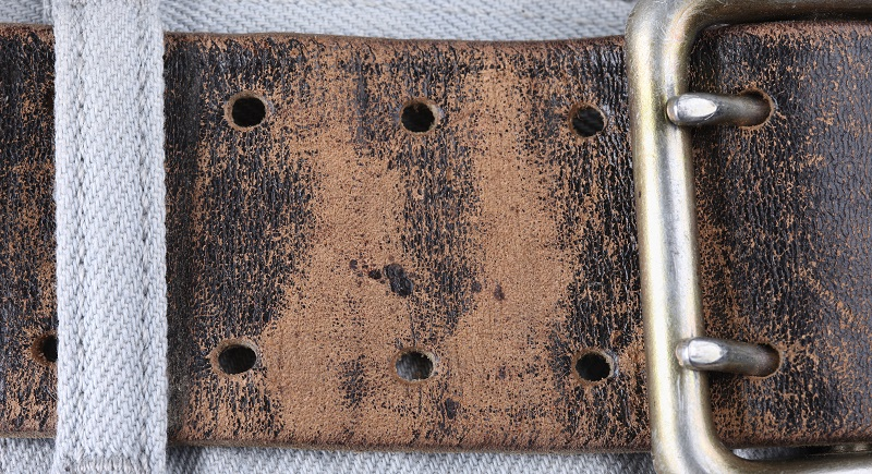 double prong gun belt from bad leather