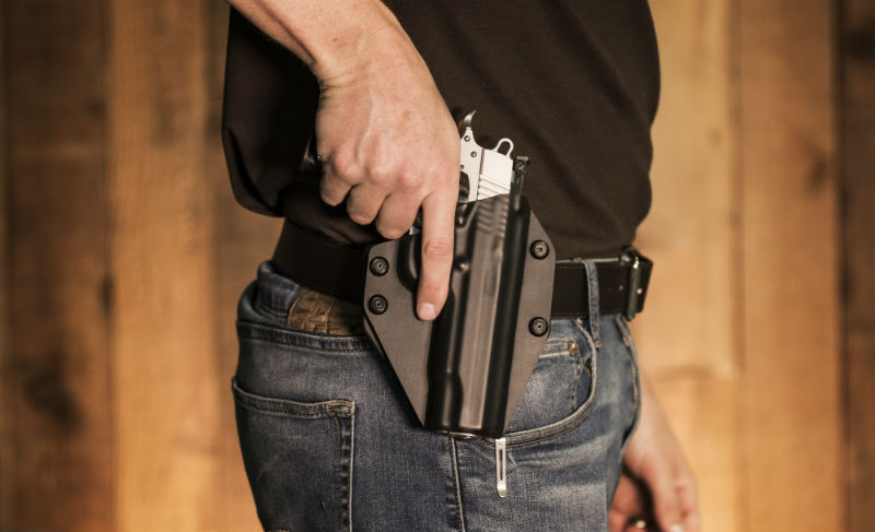 gun belt for concealed carry at the 3 o'clock open carry position