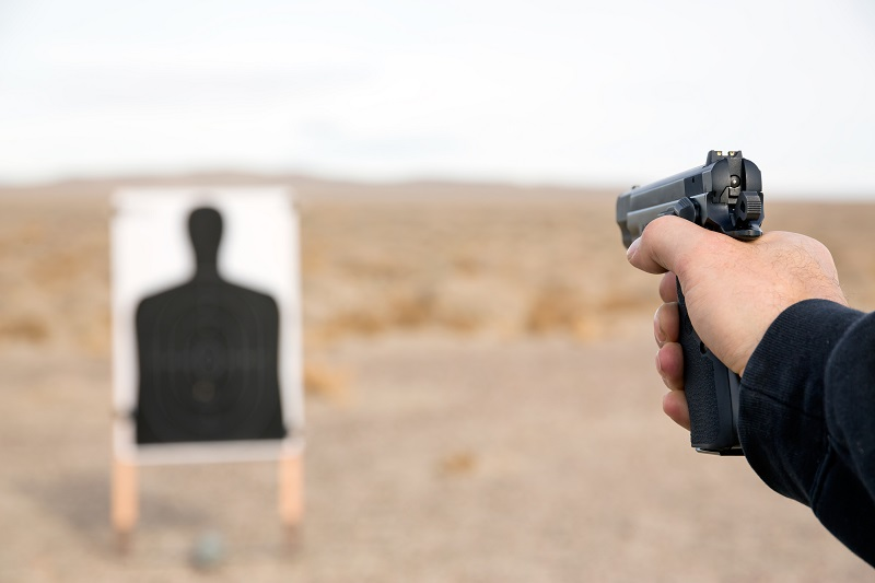 shooting at the range for practice