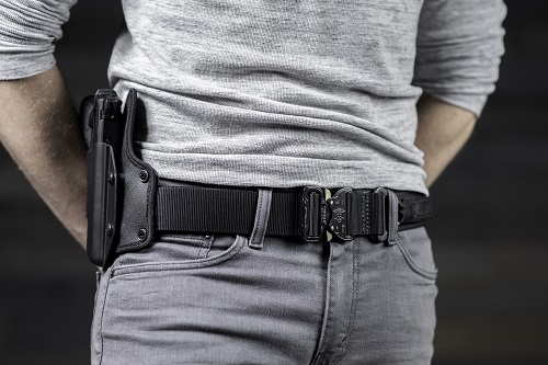 Black tactical rigger's belt