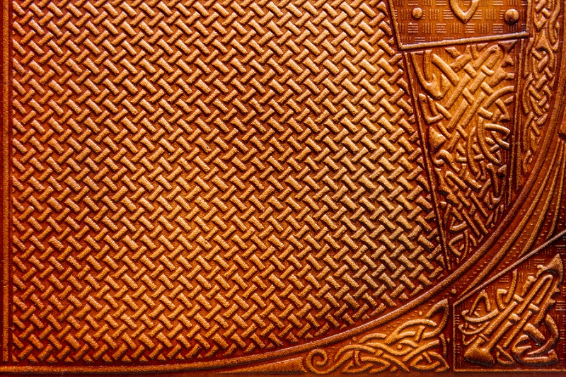 stamped leather texture