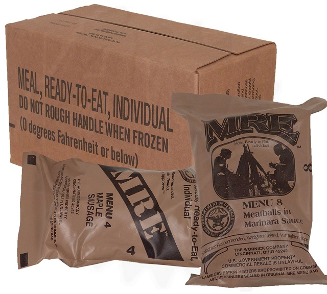 Having a few MRE's handy could help in the long run