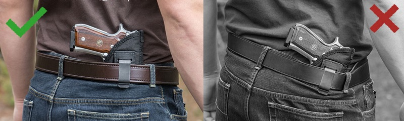 avoiding leather gun belt sag