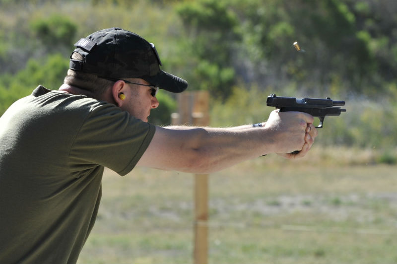 offhand shooting position
