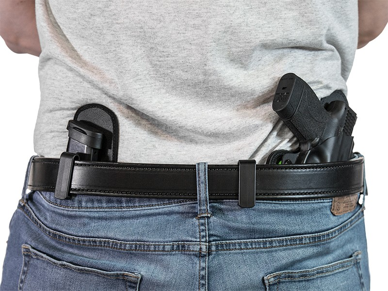 using a gun holster belt